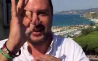Politica: salvini  mimmo lucano  riace