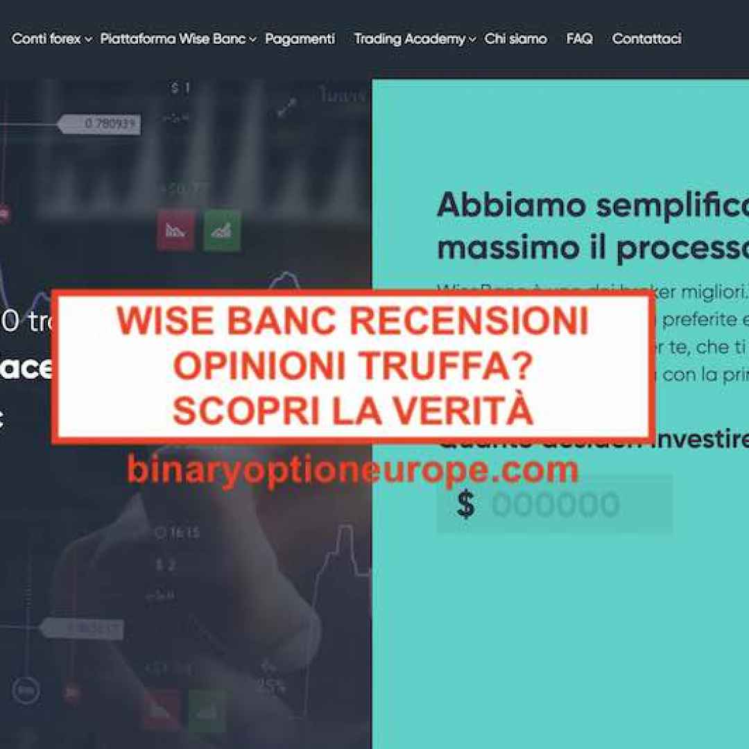 wise banc  truffa  trading  scam  broker