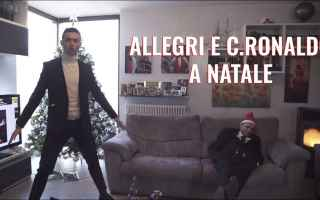 ronaldo allegri natale video risate