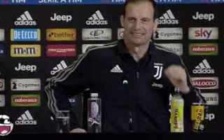 Serie A: juventus roma video conferenza allegri