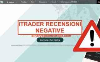 Borsa e Finanza: itrader truffa  trading  scam  broker