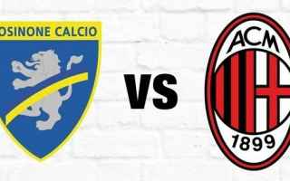 Serie A: frosinone milan video calcio highlights