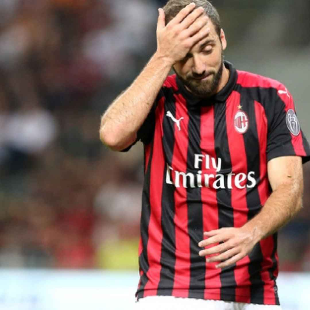 milan higuain video calcio sport