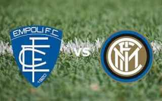 Serie A: empoli inter video gol calcio
