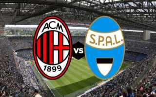 Serie A: milan spal video gol calcio