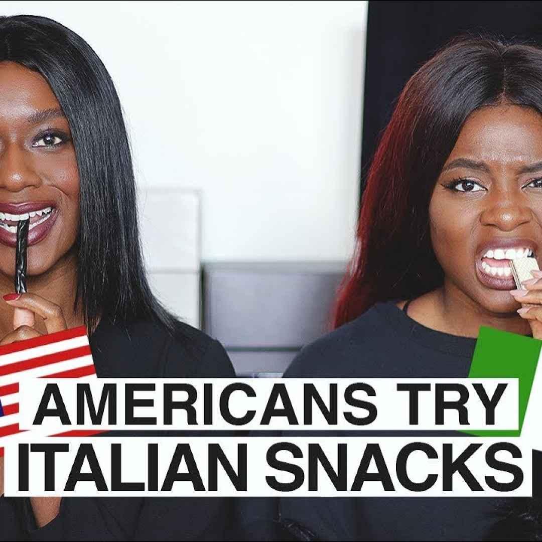 ragazze video usa italia cibo