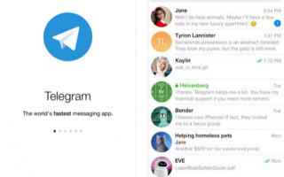 Social Network: telegram chat social