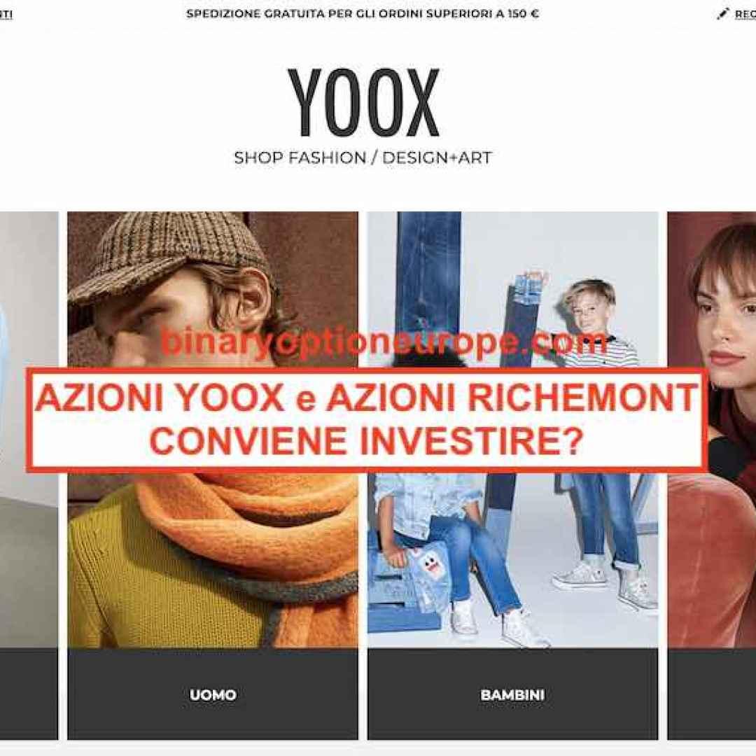 azioni yoox  azioni richemont  borsa