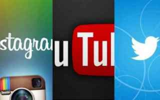 Social Network: twitter  youtube  instagram