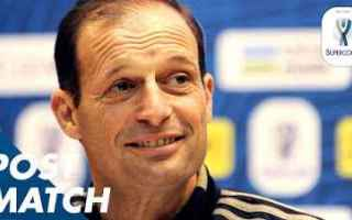 allegri video supercoppa juve milan