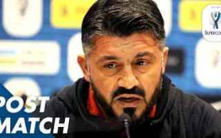 Calcio: gattuso video supercoppa juve milan
