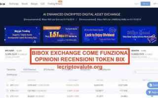 bibox exchange  bix token