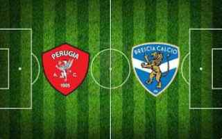 Serie B: perugia brescia video gol calcio