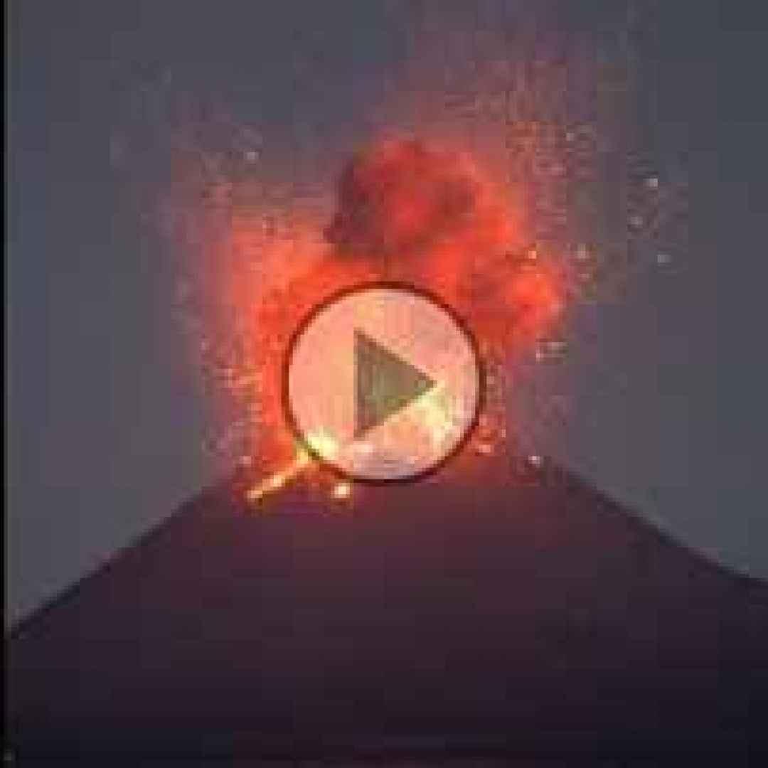 video diretta esplosione vulcano