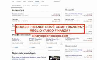 google finance  yahoo finanza
