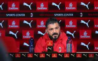 Serie A: video conferenza gattuso piatek milan