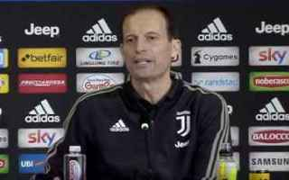 Serie A: juventus video  conferenza allegri juve