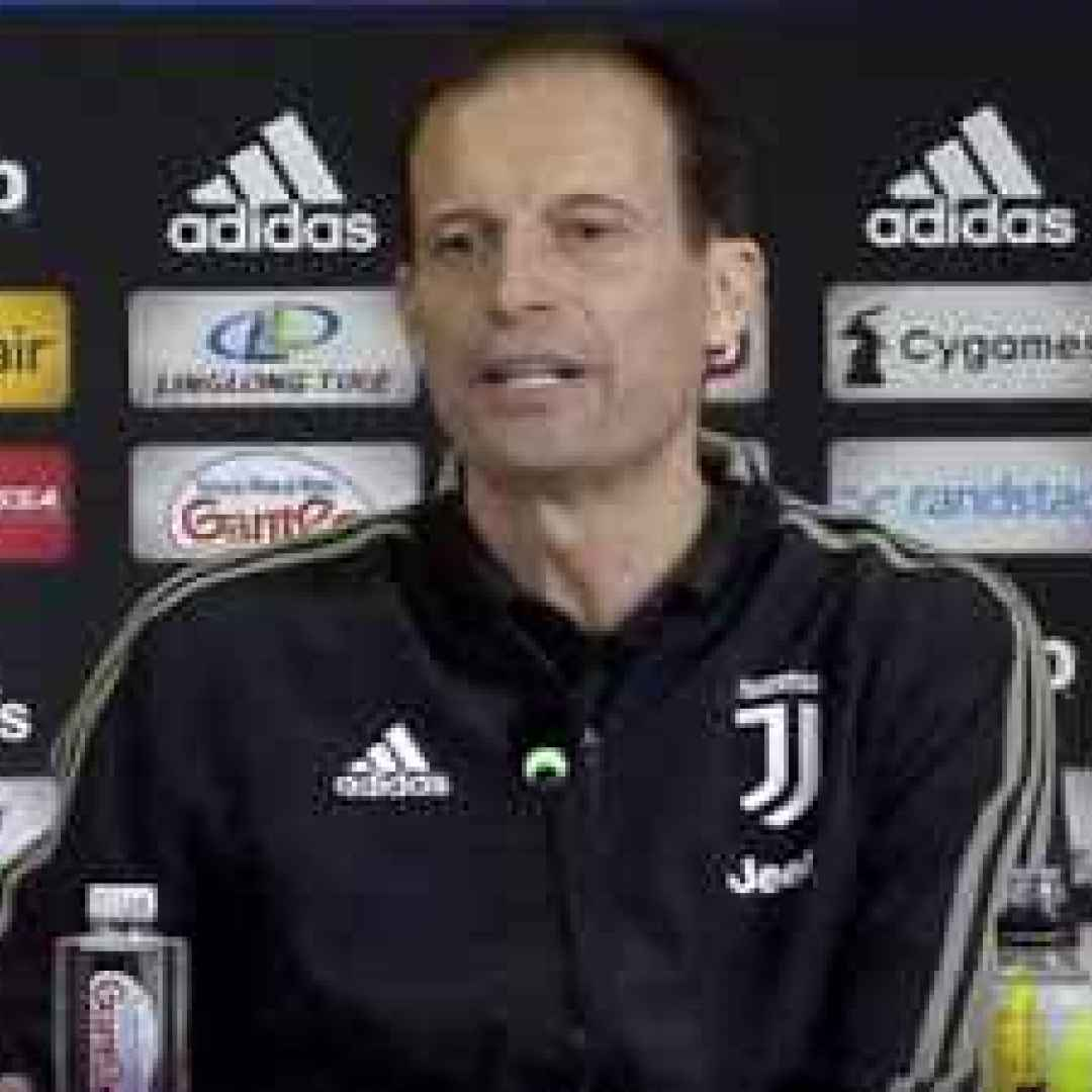 juventus video  conferenza allegri juve