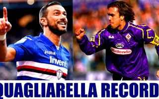 Serie A: quagliarella batistuta sampdoria record