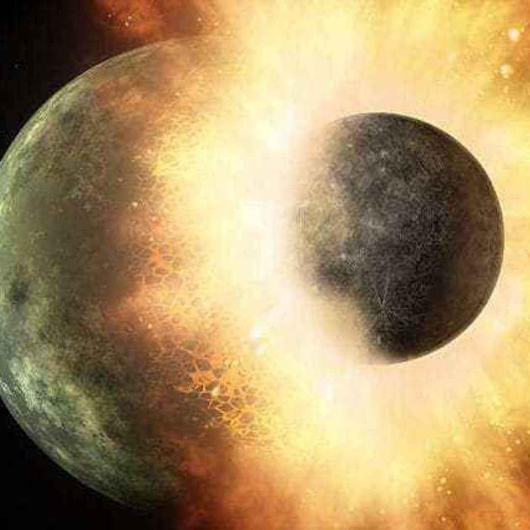 theia  atmosfera  collisione  luna