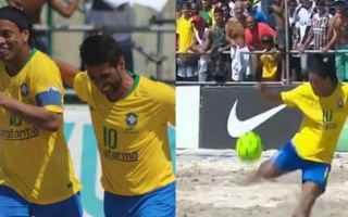 Calcio: ronaldinho video calcio brasile show