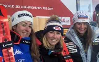 Sport Invernali: MONDIALI DI ARE: SHIFFRIN VINCE IL SUPER G GOGGIA ARGENTO