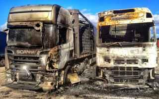 Bari: incendio  croce verde  leodavinci  bari
