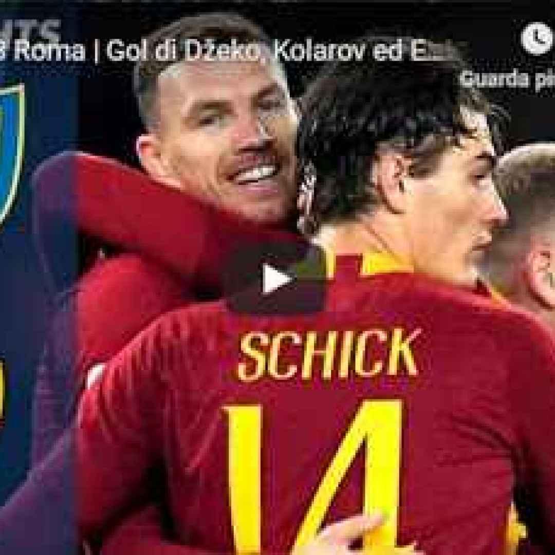 chievo roma video gol calcio