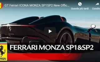Automobili: ferrari monza supercar video motori