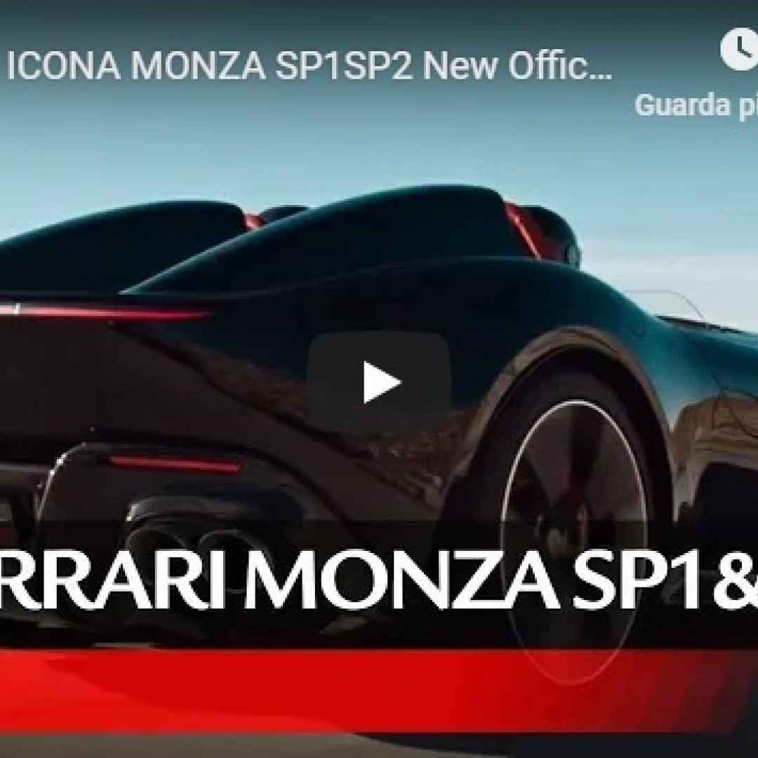 ferrari monza supercar video motori