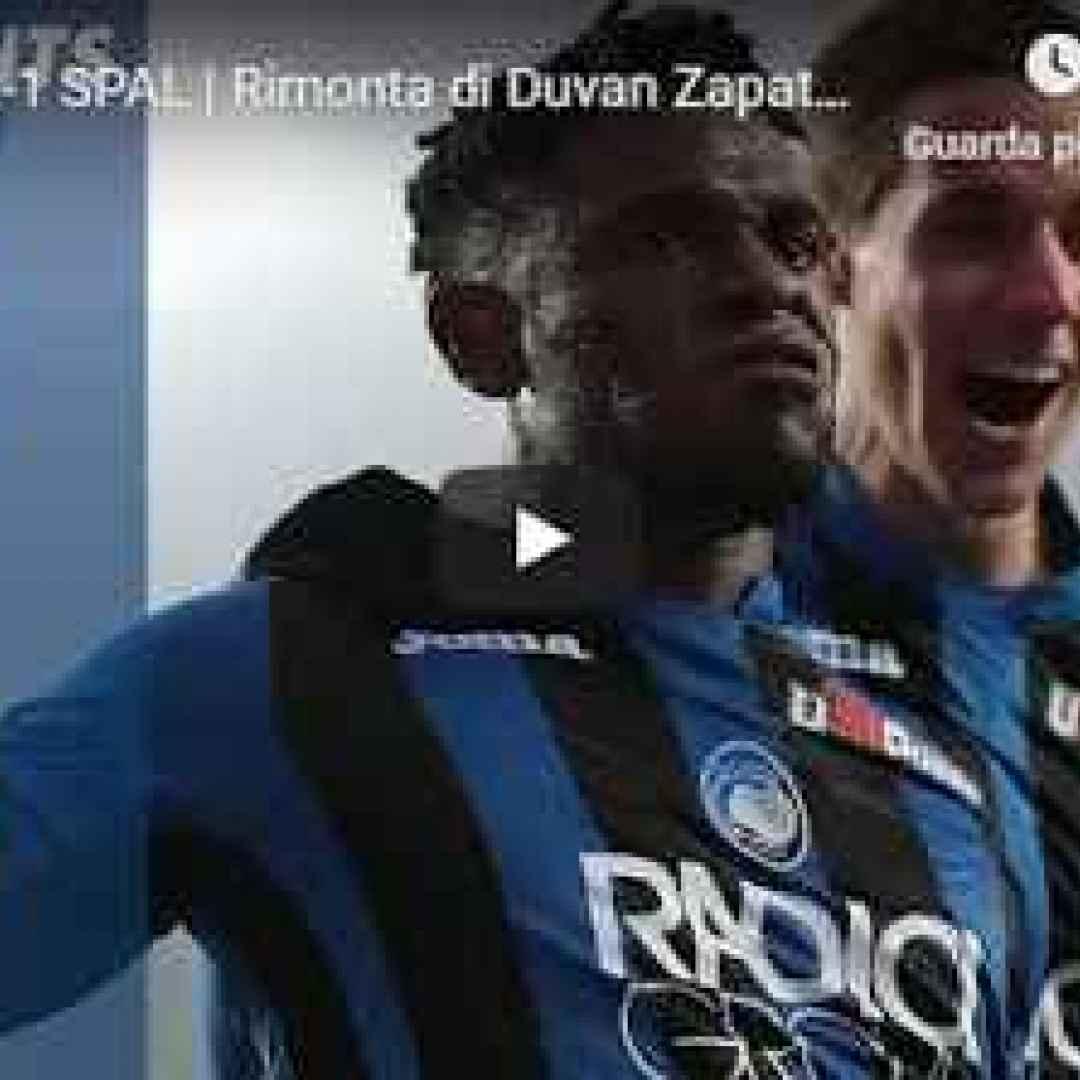 atalanta spal video calcio gol