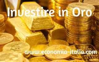 Borsa e Finanza: oro  investire  investimenti