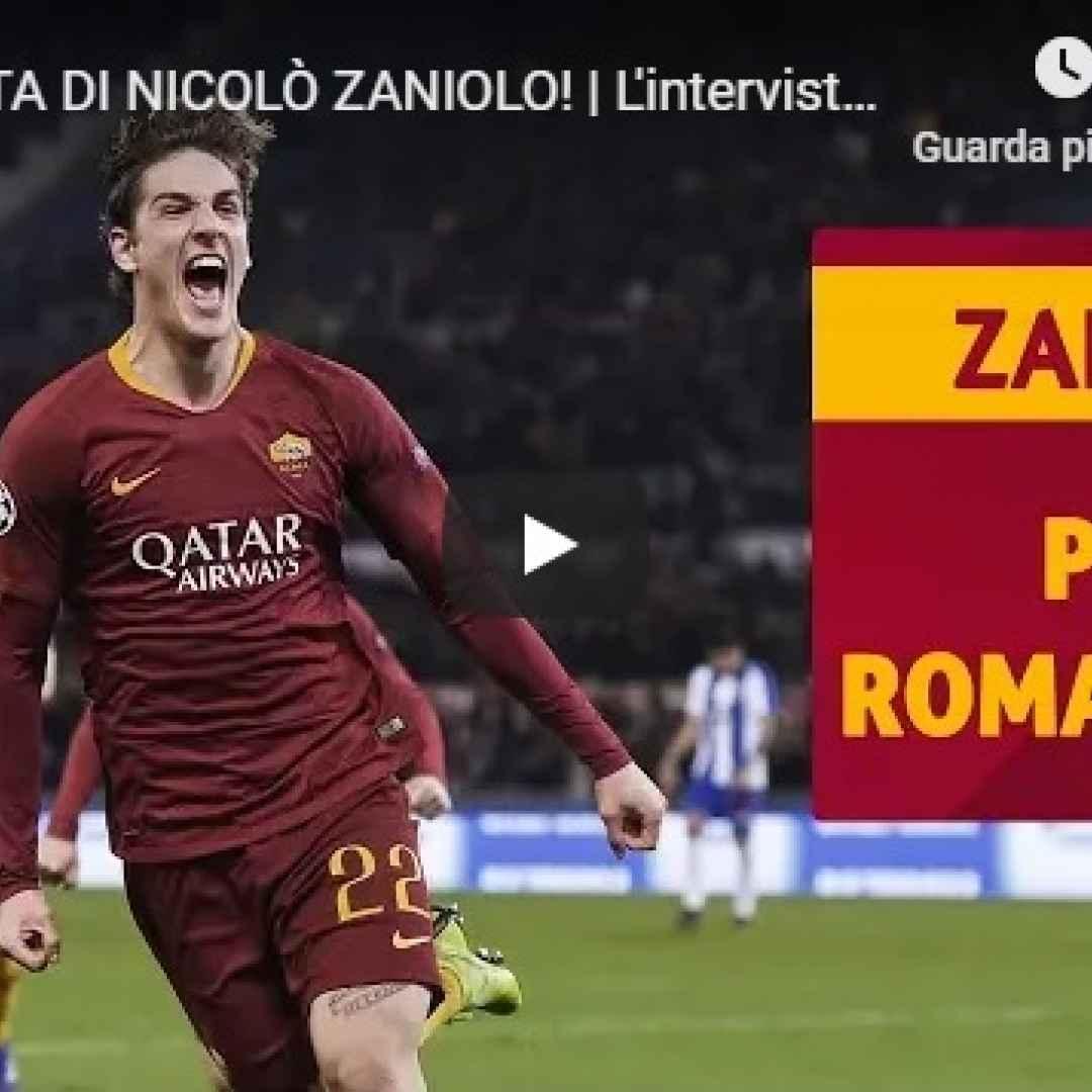 video intervista zaniolo roma calcio