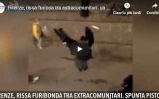 Firenze: video shock rissa firenze ferito