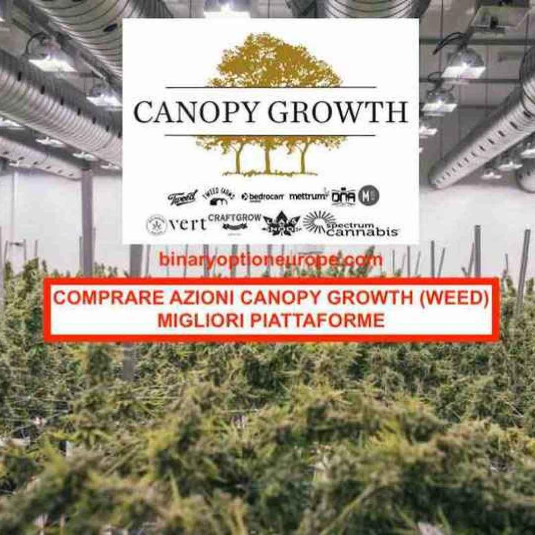 azioni canopy growth  cannabis  canapa