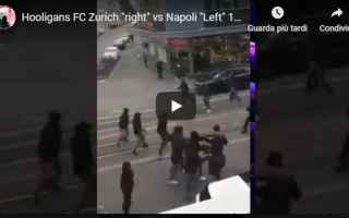 Europa League: zurigo napoli scontri calcio video