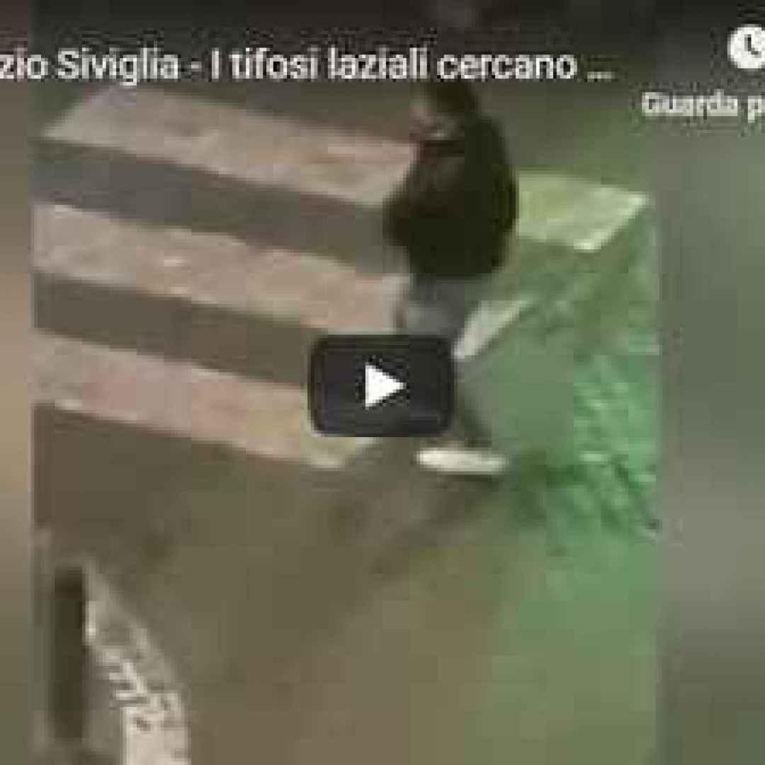 lazio roma video scontri tifosi