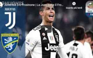 Serie A: juventus frosinone video gol calcio