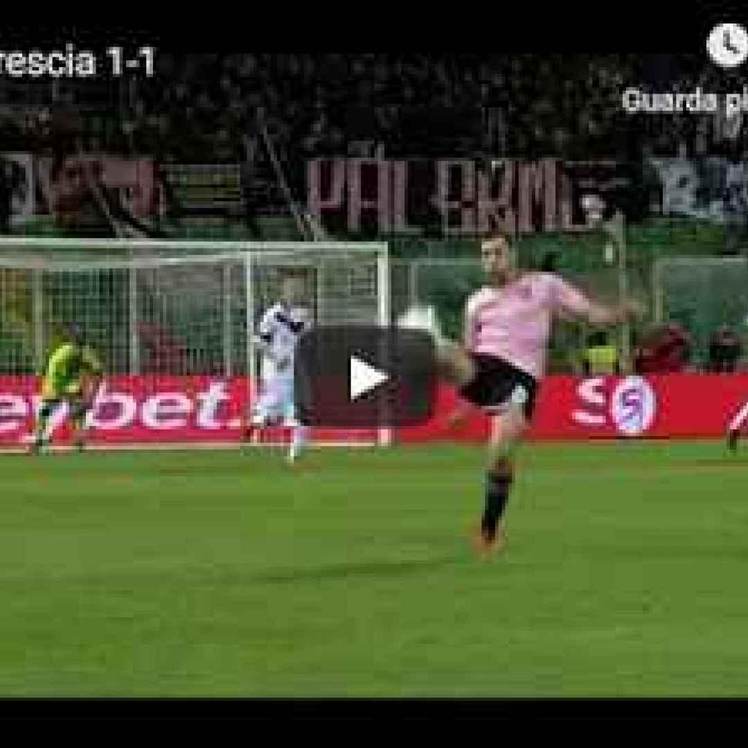 palermo brescia video gol calcio