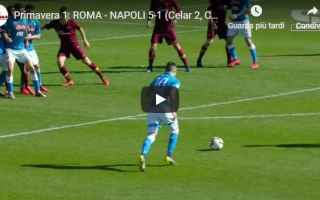 Serie minori: roma napoli video gol calcio