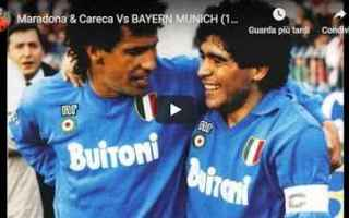 maradona  careca  napoli  video  gol  calcio