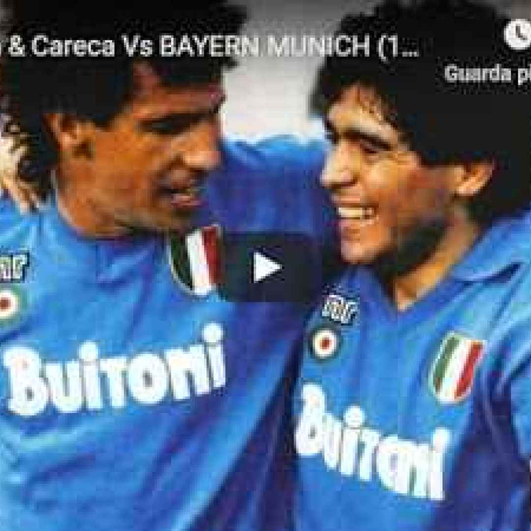 Maradona & Careca vs Bayer Monaco 1989 - VIDEO