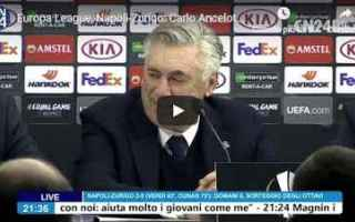 Europa League: napoli video intervista ancelotti calcio
