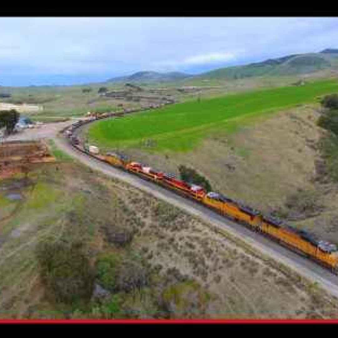 treni  droni  riprese  ferrovia  motori