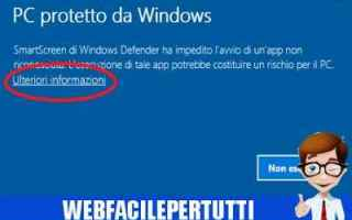 Microsoft: windows 10  disattivare  smartscreen