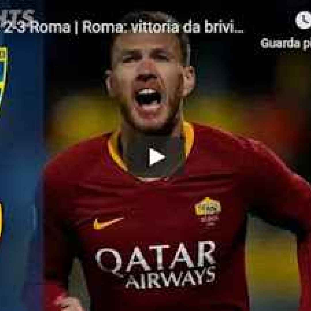 frosinone roma video calcio highlights