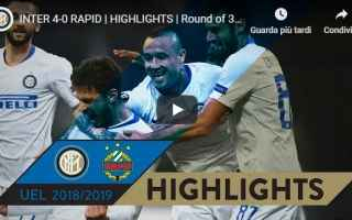 Europa League: inter rapid vienna video gol calcio