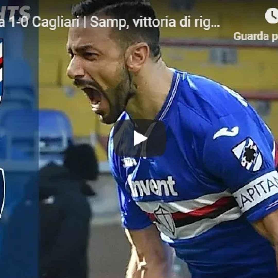 sampdoria cagliari video gol calcio