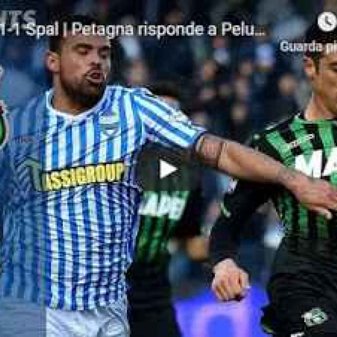 sassuolo spal video gol calcio
