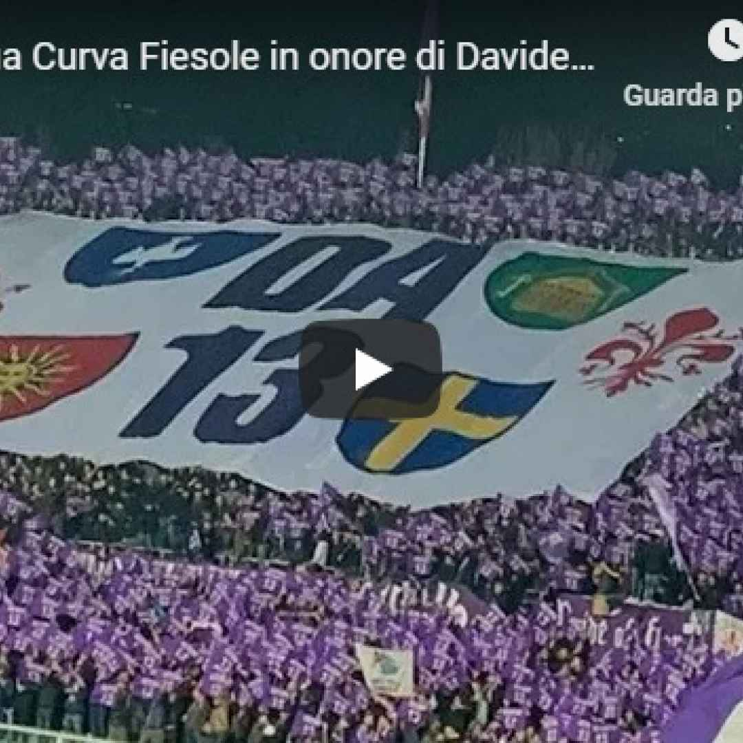 Coreografia da Brividi Curva Fiesole in onore di Davide Astori - VIDEO